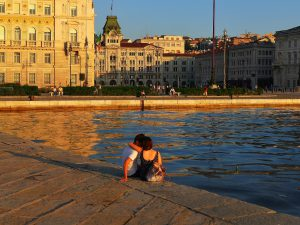 Trieste water sun Italy summer harbour